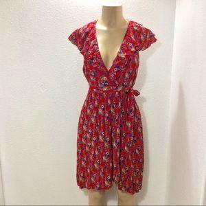 Maeve faux wrap dress